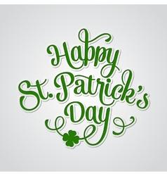 Typographic Saint Patricks Day Greeting Card vector image vector image