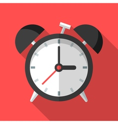 Colorful alarm clock icon in modern flat style vector image