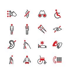 disabled icons vector image