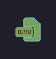 DJVU computer symbol vector image