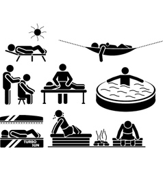 ICON MEN IN RELAX vector image vector image