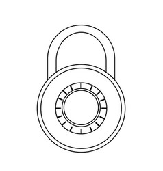 safety lock icon image vector image
