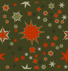 seamless texture red on dark green stylized vector image vector image