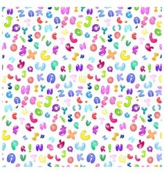 bubble Abc pattern vector image