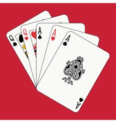 full house aces and queens vector image vector image