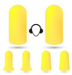 safety foam ear plugs vector image vector image