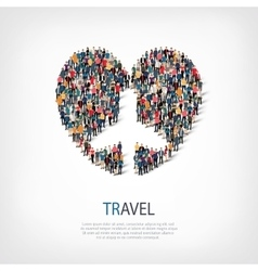 travel people symbol vector image