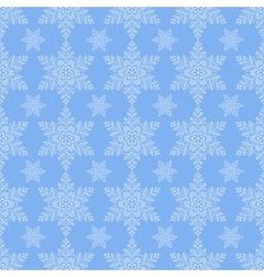 Blue Snowflake Seamless vector image