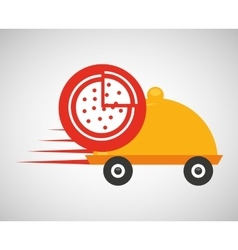 fast delivery food pizza vector image vector image