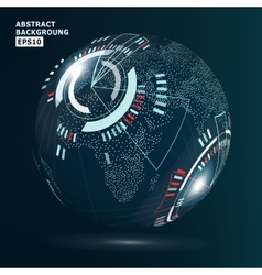 Futuristic Globalization Interface vector image