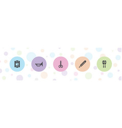 5 instrument icons vector