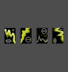 A set of modern abstract covers vector