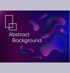abstract fluid color background poster or card vector image