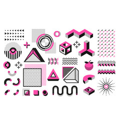 Abstract geometric shapes memphis modern minimal vector