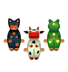 animal toys vector image