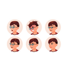 avatar icon woman round portrait cute vector image