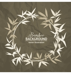 Bamboo decorative frame vector