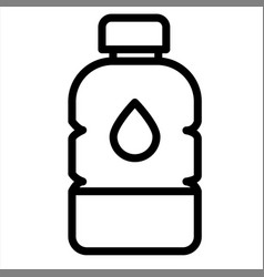 beverage bottle drink water icon vector image
