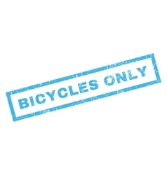 Bicycles Only Rubber Stamp vector