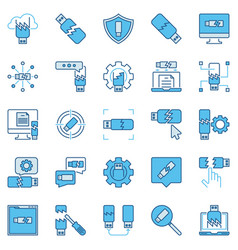 broken or corrupted usb drive creative concept vector image
