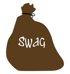 Burglars isolated swag bag vector