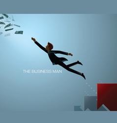 Business man reach vector