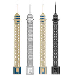 Cairo tower in front view vector