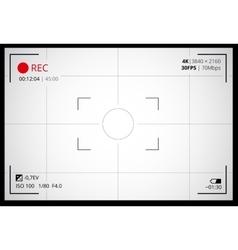 Camera viewfinder screen vector