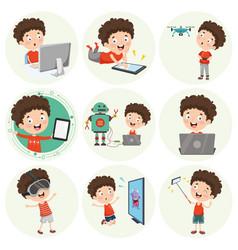 cartoon character vector image