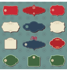 christmas colored labels vector image