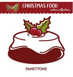 Christmas food festive dessert with glaze and vector