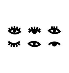 concept of eye black on white vector image