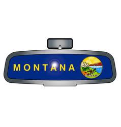 Driving across montana vector