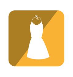 elegant businesswoman dress icon vector image