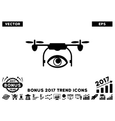 Eye Spy Drone Flat Icon With 2017 Bonus Trend vector image