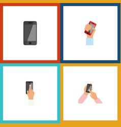Flat icon phone set interactive display vector