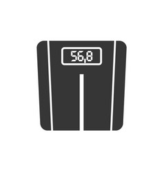 floor scales glyph single isolated icon vector image