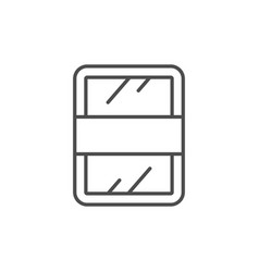 food tray line outline icon vector image