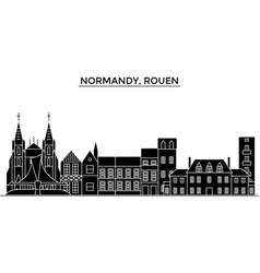France normandy rouen architecture city vector