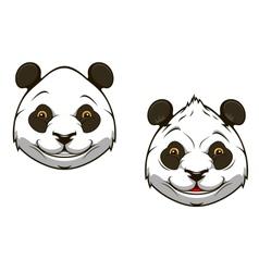 Funny chinese panda bear mascot vector image