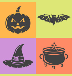 halloween isolaten design elements vector image