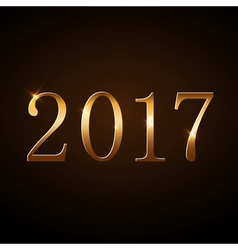 Happy New Year background gold 2017 vector image