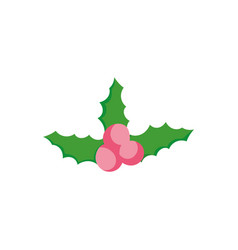holly berry ornament decoration christmas vector image