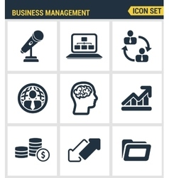 Icons set premium quality of business people vector image