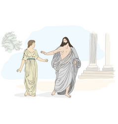Jesus christ and mary magdalene vector