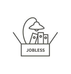 job loss icon vector image