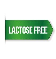 Lactose Free sign ribbon vector image