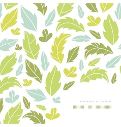 Leaves silhouettes corner decor pattern background vector image