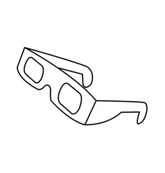 line 3d glasses to see movie in the cinema vector image