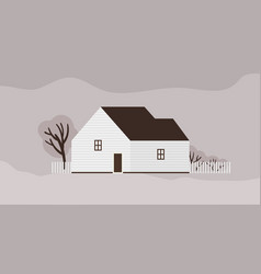 living house or cottage scandinavian vector image